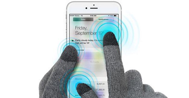 Γάντια για οθόνες αφής (touchscreen)